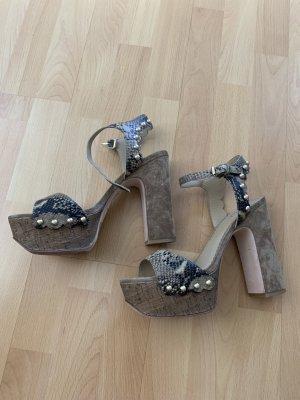 ASH Platform High-Heeled Sandal grey brown