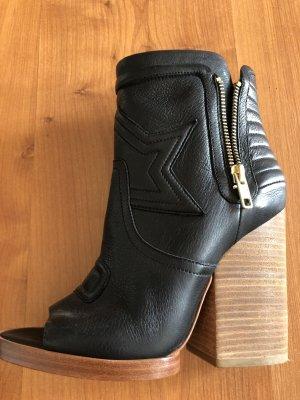 Ash Pumps peep toe high hells Stiefelette Neu schwarz Gr.37 Leder