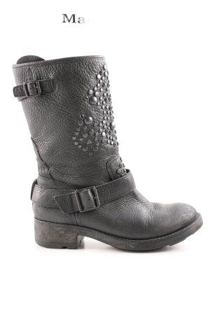 ASH Reißverschluss-Stiefeletten schwarz Casual-Look