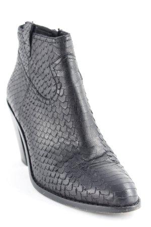 ASH Reißverschluss-Stiefeletten schwarz Animalmuster Elegant