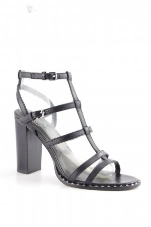 ASH Strapped High-Heeled Sandals black street-fashion look
