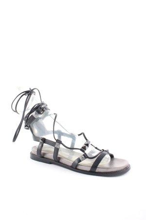 ASH Römer-Sandalen schwarz-silberfarben Street-Fashion-Look