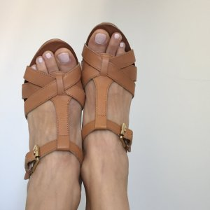 ASH Platform Sandals cognac-coloured