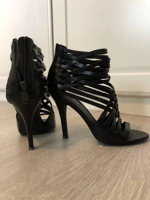 ASH Sandalo con cinturino e tacco alto nero Pelle