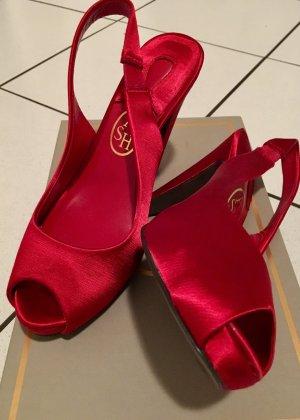ASH Satin Silk rote Schuhe