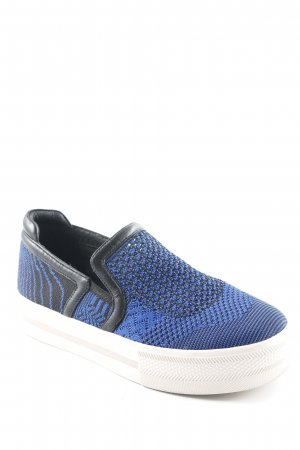 ASH Slip-on Shoes steel blue-black casual look