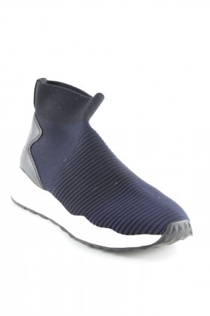 ASH Sneaker slip-on nero-blu scuro puntinato stile casual