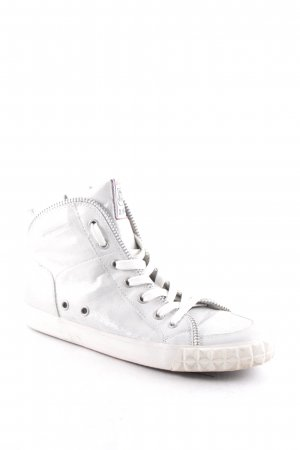 ASH Lace-Up Sneaker silver-colored metallic look