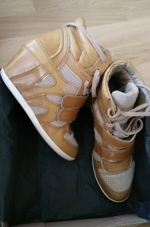 ASH Sneaker con tacco giallo-oro-color cammello