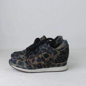 ASH Sneaker stringata nero-verde scuro Pelle