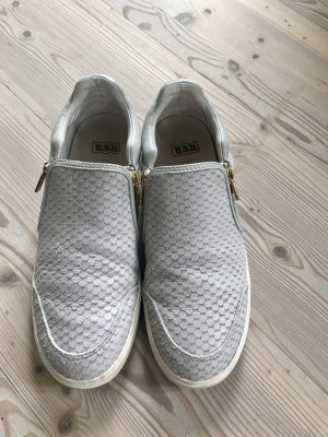 ASH Sneaker- hellgrau mit goldenen Reißverschlüssen- 41