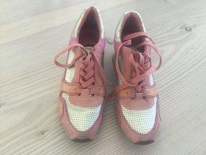 Ash Sneaker, Keilabsatz, Rose, altrosa, apricot, Silber Gr. 40