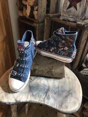 ASH High top sneaker korenblauw
