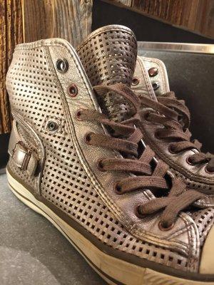 ash-sneaker Leder Größe 38 sehr bequem Silber - Bronze