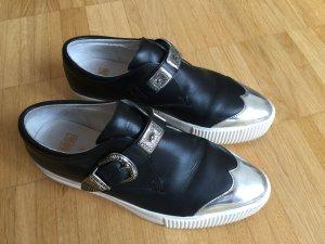 ASH Sneaker slip-on nero-argento