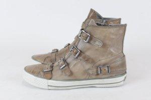 ASH Sneaker Turnschuhe Gr. 37 hellbraun Leder NEU (E/MF/SC)