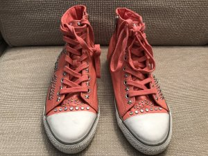 ASH Sneakers salmon-silver-colored leather