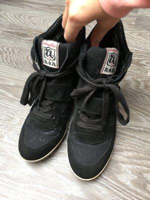 Ash Sneaker Wedges Schwarz