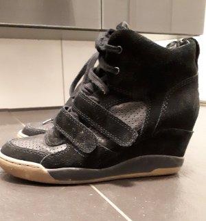 ASH Sneaker con tacco nero Pelle