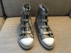 Ash Stiefel Boots Turnschuhe Sneaker 41 Silber neuwertig