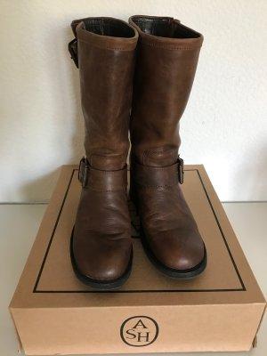 ASH Stiefel Gr 40 braun mit Schnallen höheres Modell