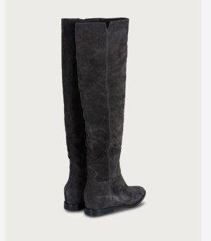 ASH Jackboots dark grey-anthracite leather