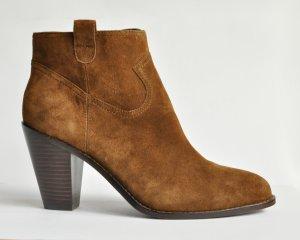 Ash Stiefeletten IVANA Ankle Boots Wildleder cognac rotbraun Gr. 40 NEU/ UNGETRAGEN