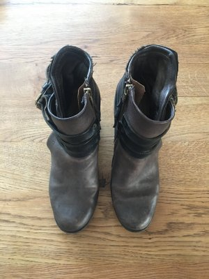 ASH Booties dark grey leather