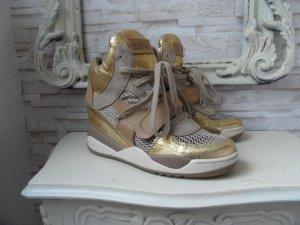 ASH SUPER Sneaker LUXUS SCHICKE Schuhe Gr. 40  Beige / Gold , Leder