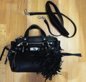 ASH Tasche schwarzes Leder Grunge Punk Blogger Style Handtasche
