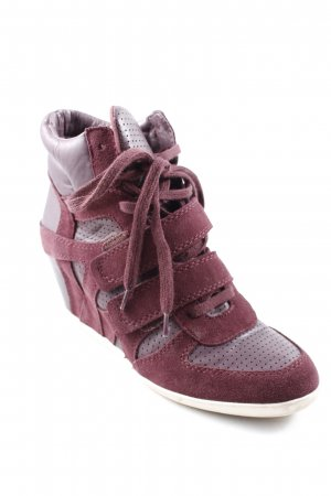 ASH Wedge Sneaker brombeerrot Materialmix-Look