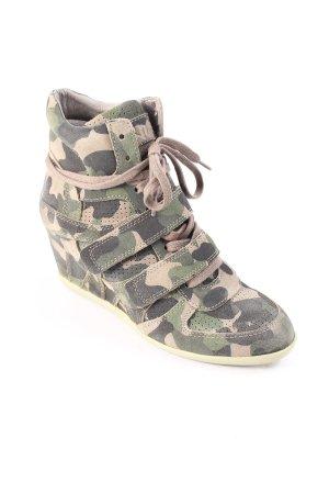 ASH Wedge Sneaker grüngrau-dunkelgrün Camouflagemuster Urban-Look