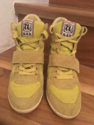 ASH Wedge Sneaker neon yellow-lime yellow
