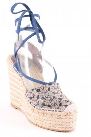 ASH Wedges Sandaletten blau-creme extravaganter Stil
