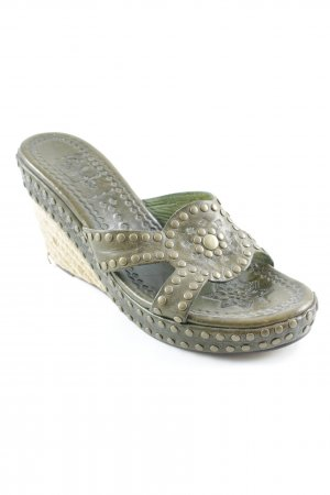 ASH Wedges Sandaletten olivgrün Casual-Look