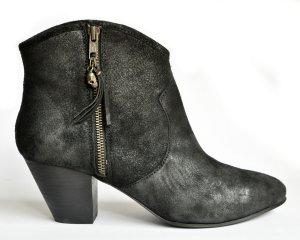 Ash Western Stiefeletten Cowboy Boots JESS Wildleder schwarz reverse broken Gr. 40 NEU/ UNGETRAGEN