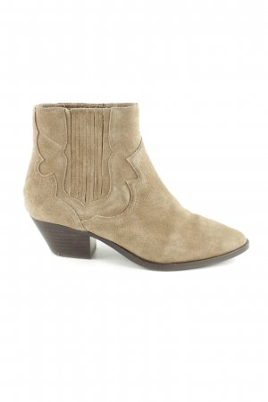 ASH Western-Stiefeletten wollweiß Business-Look