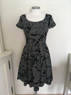 Ashley Brooke A Line Dress black-white mixture fibre