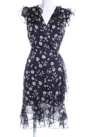 Ashley Brooke A-Linien Kleid schwarz-weiß Blumenmuster Casual-Look