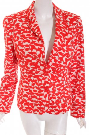 Ashley Brooke Blazer natural white-red flower pattern classic style