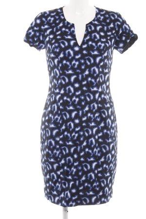 Ashley Brooke Robe crayon noir-bleu motif abstrait style d'affaires