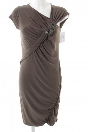 Ashley Brooke Robe crayon gris brun style festif