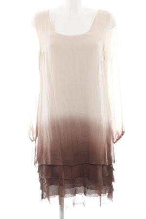 Ashley Brooke Blusenkleid wollweiß-braun Farbverlauf Elegant