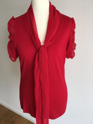 Ashley Brooke Blouse à manches courtes rouge viscose