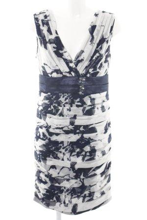 Ashley Brooke Cocktailkleid blau-weiß abstraktes Muster Elegant