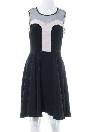 Ashley Brooke Cocktail Dress black-dusky pink color blocking elegant