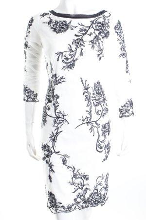 Ashley Brooke Cocktailkleid weiß-schwarz florales Muster Eleganz-Look