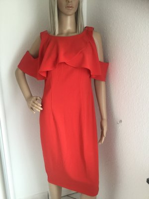 Ashley Brooke Midi Dress bright red polyester