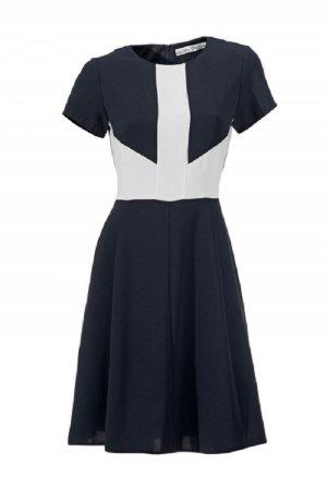 Ashley Brooke Designer-Kleid, marine-cremeweiß Gr. 46