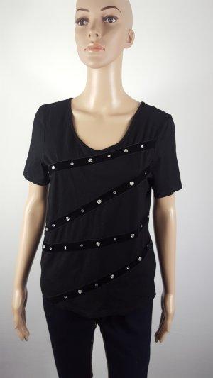 Ashley Brooke T-shirt zwart Viscose